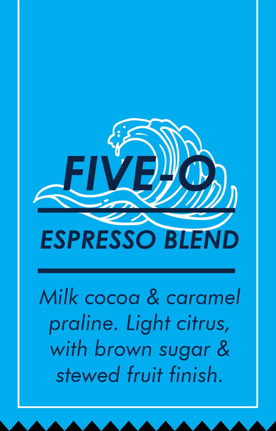Five O Label Card