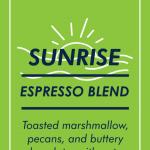 Sunrise Espresso Blend Coffee Beans